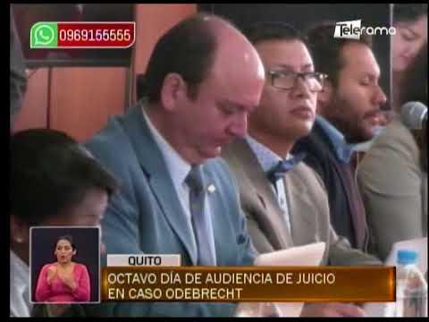 Octavo día de audiencia de juicio en caso Odebrecht