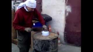 Печка на отработке своими руками из бочки 200 л. без использования сварки  за 2 часа.(Печь на отработанном масле своими руками из бочки 200 л. без использования сварки за 2 часа., 2014-10-11T06:39:17.000Z)