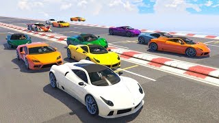 16 PLAYER CHAOS! - GTA 5 Funny Moments #698