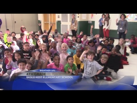 Rob's Weather 101 with 4th graders at Eagle Nest Elementary School