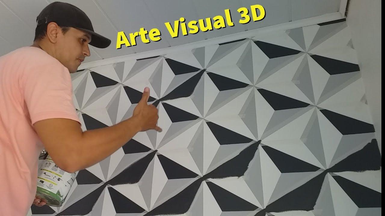 Pintura Efeito 3D, Arte 100% Concluída