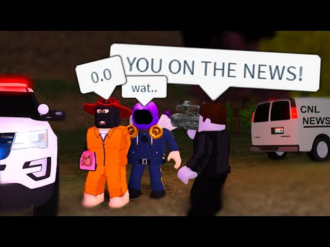 Criminal Escapes JAIL On The NEWS! Then I Released Him Horrible IDEA ... (Roblox)