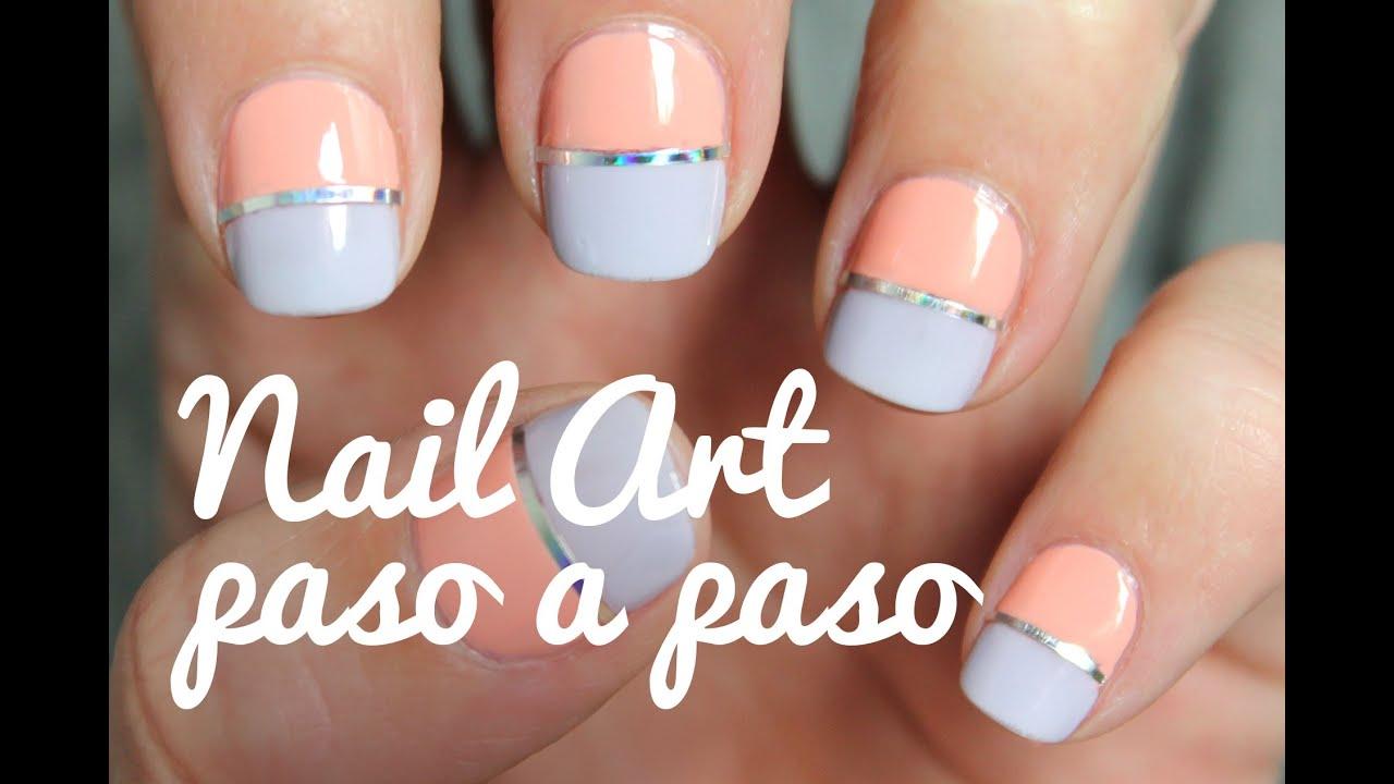 Unas Decoradas Con Colores Pastel Paso A Paso Vinylux Flora