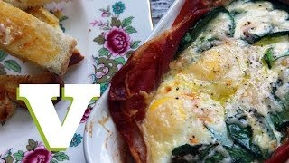 Baked Eggs With Spinach And Prosciutto Ham: A Spoonful Of Comfort
