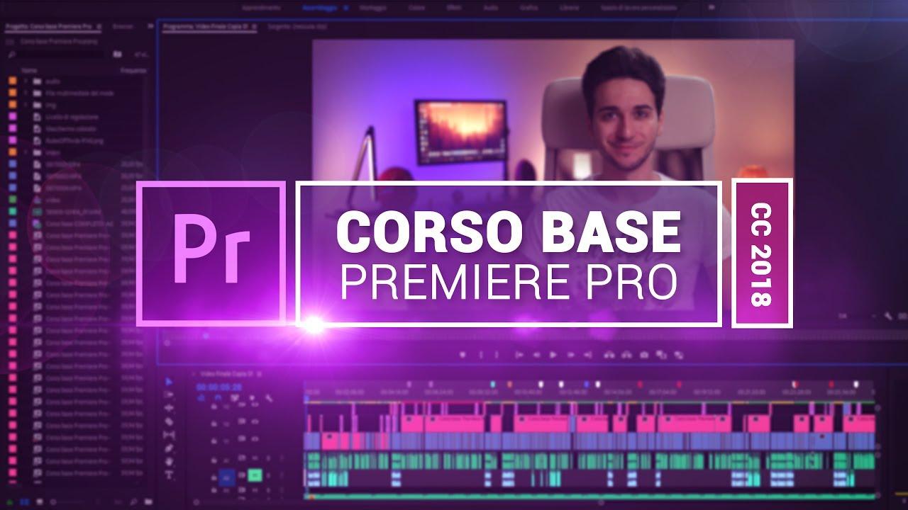Tutorial Adobe Premiere Pro CC 2018 – Corso base COMPLETO  ITA