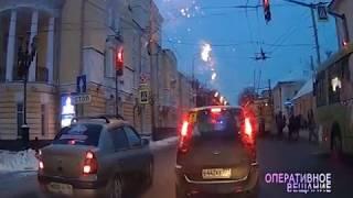 ВИДЕО: Поспешивший автолюбитель насмешил полгорода