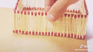 How to make a house with a matchstick