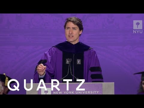Justin Trudeau redefined courage in a speech to college grads