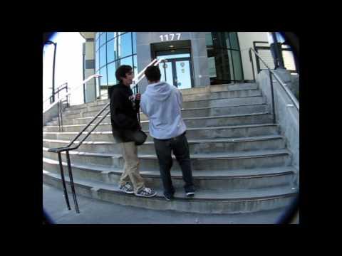 10 Stair Ollie & Kickflip Attempts!