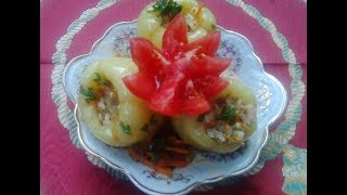 Фаршированный перец (мясом и морковью)