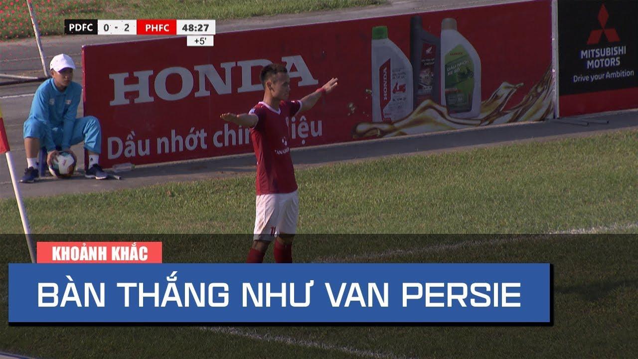Ngạc nhiên với pha phối hợp ghi bàn như Van Persie của Phố Hiến FC