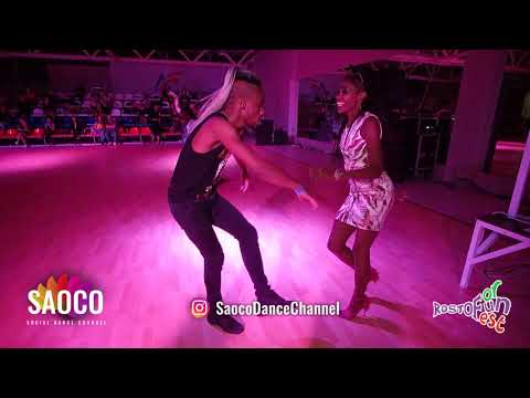 Daniel Torriente And Annelys Perez Castillo Salsa Dancing At Rostov For Fun Fest 2018, Sun 04.11.18