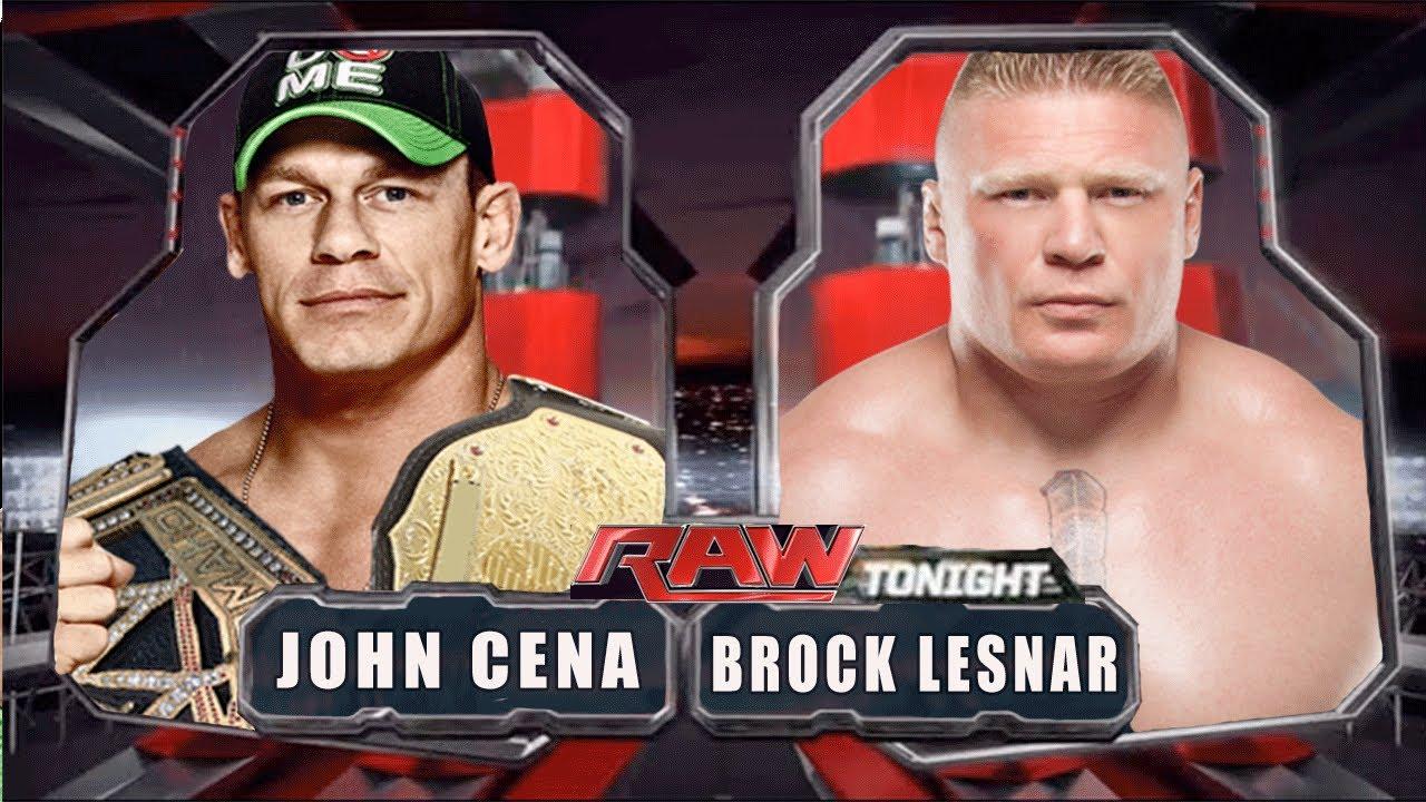 WWE RAW 2014 - John Cena vs Brock Lesnar - Full Match HD ...
