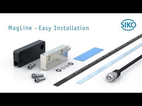 SIKO MagLine - Easy Installation of Magnetic Sensor and Band