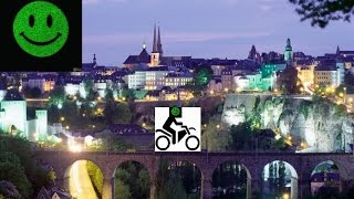🚴Luxembourg to Train Station🛃 (Part 2) (2.4K) (8C°)