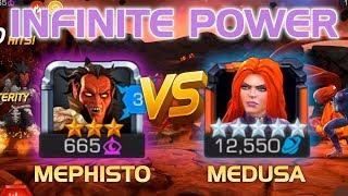 Infinite Power: Mephisto vs. Medusa Duel w/ Tips (Auto-Block Counter & Unlimited Power Gain) | MCoC