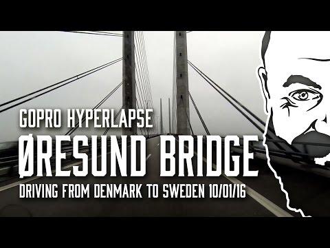 Driving across Øresund Bridge (Øresundsbroen) - GoPro Hyperlapse/Drivelapse
