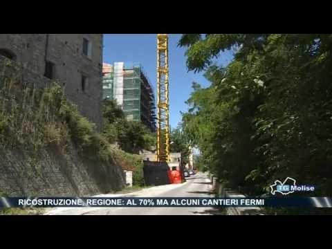 Ricostruzione, Regione:al 70% ma alcuni cantieri fermi