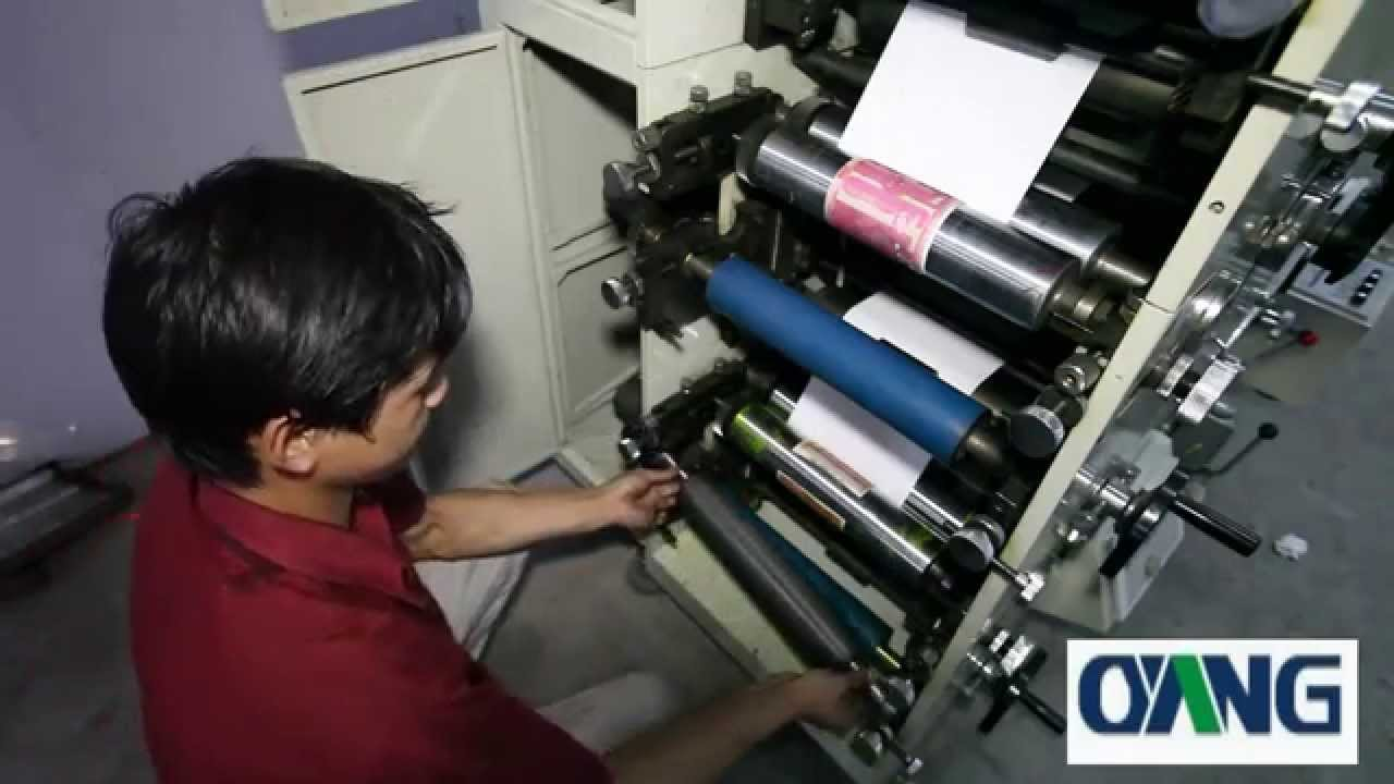Automatically Paper Roll To Roll Printing Machine Youtube