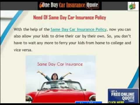 Same Day Car Insurance Cover with No Deposit, No Credit Check Online240p