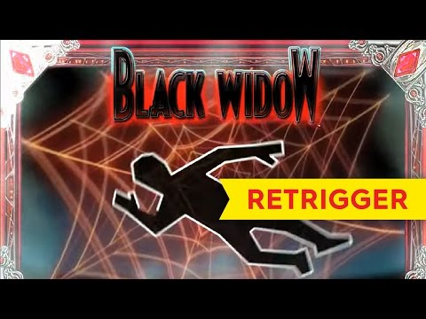 Black Widow Slot Machine Big Win RETRIGGER! *2nd* Best On YouTube! - 동영상