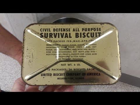 1962 Civil Defense Survival Biscuits