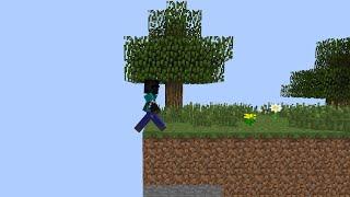 Minecraft pero se DESTRUYE el MUNDO cuando CAMINO