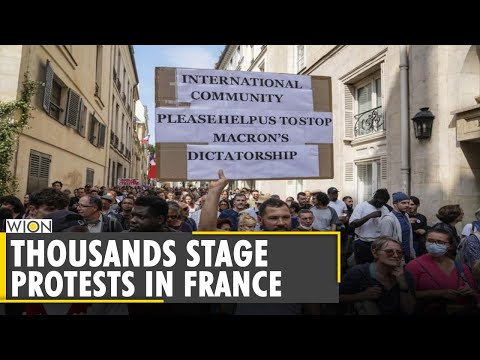 COVID-19: Thousands protest in France against health pass   Latest World English News   WION News