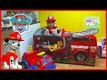 Paw Patrol Toys Playhouse Surprise Tent w/ Marshall's FireTruck Ride On!