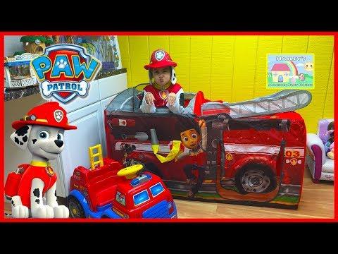 Nickelodeon Paw Patrol Toys Huge Surprise Tent Marshall