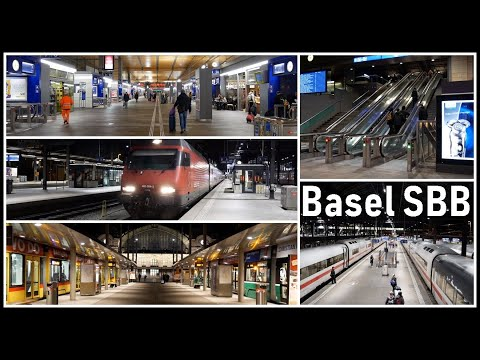 Train Station Basel SBB / Frühmorgens am Bahnhof Basel SBB,  Schweiz