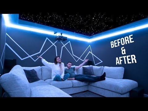 OUR HOME CINEMA ROOM TRANSFORMATION! BEFORE AND AFTER... AD