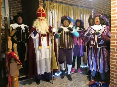 Sinterklaas Peij liedje: Staf Mijter mantel Baard, kraag, zak, broek en veer