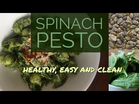 Spinach and Pumpkin Seed Pesto - Easy and Healthy | Clean Eating