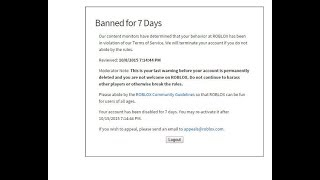 I ALMOST GOT BANNED FOR USING MODS ON ROBLOX... (Super scary)