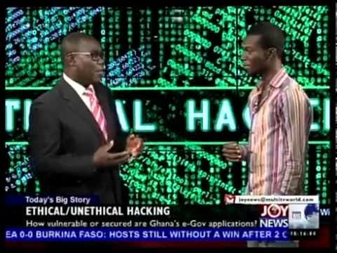 Ethical Unethical Hacking - Today's Big Story on Joy News (22-1-15)