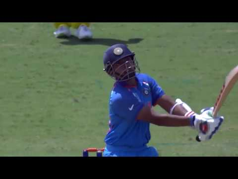 U19CWC Nissan Play of the Day  Prithvi Shaw hits a giant six!