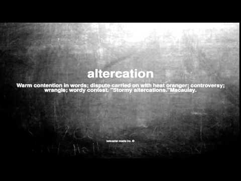 What does altercation mean