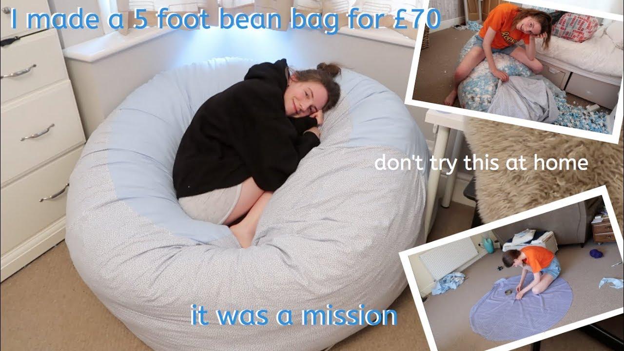 i made a 3 foot bean bag