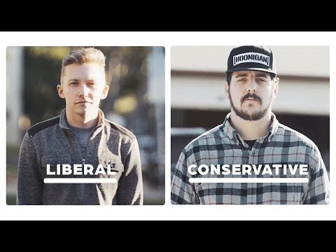 Liberal vs Conservative: 24 Hours Side By Side