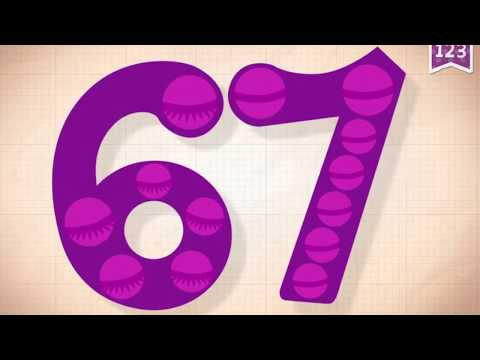 Learn Number 67 In English & Counting, Math By Endless Numbers   Kids Video