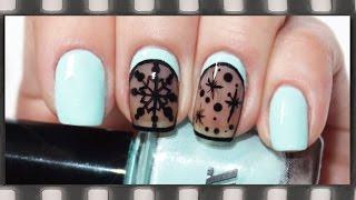 Зимний маникюр Вуаль, Капрон, Колготки | Sheer Tints Nail Art