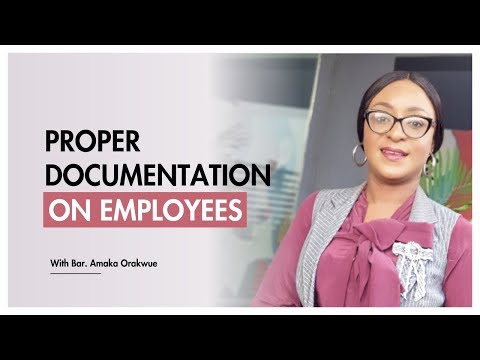 PROPER DOCUMENTATION ON EMPLOYEES