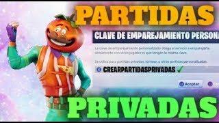 JUGANDO PARTIDAS PRIVADAS DE FORTNITE BATLLE ROYALE CON CÓDIGO EN DIRECTO