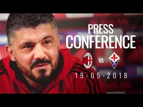 Rino Gattuso's press conference ahead of AC Milan v Fiorentina
