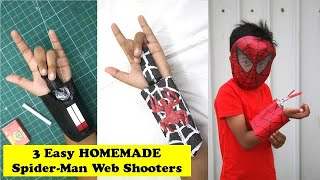 3 Simple Spider-Man Web Shooters you can make at Home | Easy Homemade Web Shooter that SHOOTS DIY