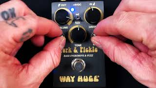 Way Huge Pork and Pickle Bass Overdrive Fuzz Demo