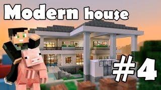 видео: Minecraft строим красивый дом: Modern House (Выпуск 5 ч.4)