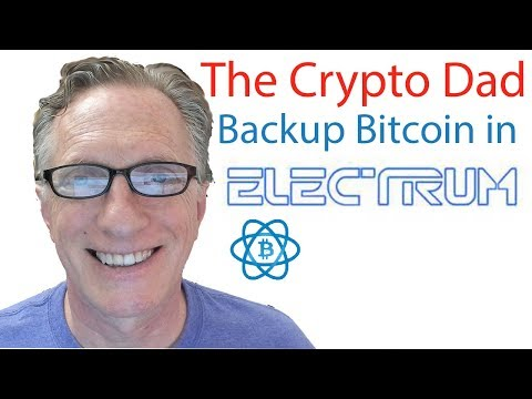 Backing up Your bitcoins using the  Electrum Bitcoin Wallet