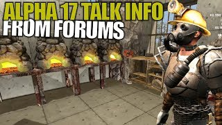 ALPHA 17 TALK INFO FROM FORUMS   7 Days to Die   Let's Play Gameplay Alpha 16   S16.4E92